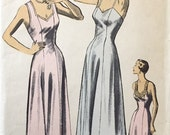 """Vintage 1940s 50s Advance Misses' Slip Nightgown Pattern 5434 Size 16 (34"""" Bust)"""