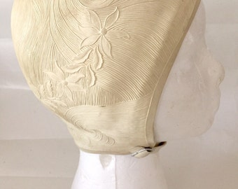 Vintage 1950s Women's Ivory Sea Siren Bathing/Swimming Cap By Pretty Products