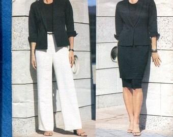 Vogue 2390 Anne Klein Classic Skirt Jacket & Wide Leg Pants Size 6..8..10 UNCUT