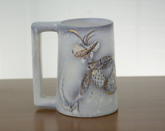 Beautiful Sascha Brastoff Pottery Mug
