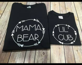 Mama papa baby bear lil cub one Piece or Shirt