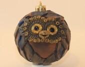 Poseidon - Polymer Clay Owl Ornament