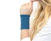 Fabric Wrist Cuff Bracelet, Stretch Jewelry, Bands Cuffs, Long Wide Arm Wristband Band, Sweatband Tattoo Cover Up Covers, Rib Knit Sweater