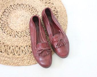 Vintage Dexter Oxblood Leather Loafers Sz 9.5