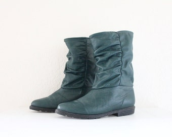 Vintage Blondo Forest Leather Slouch Boots / 10