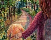 Down a Woodland Path - Fine Art Reproduction by Carrie Tasman