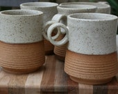 rustic handmade mug, tea mug, stoneware coffee cup, rustic pottery, stoneware cups, kitchen and home, minimalist pottery