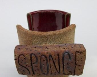 New Red Handmade Ceramic Sponge Holder