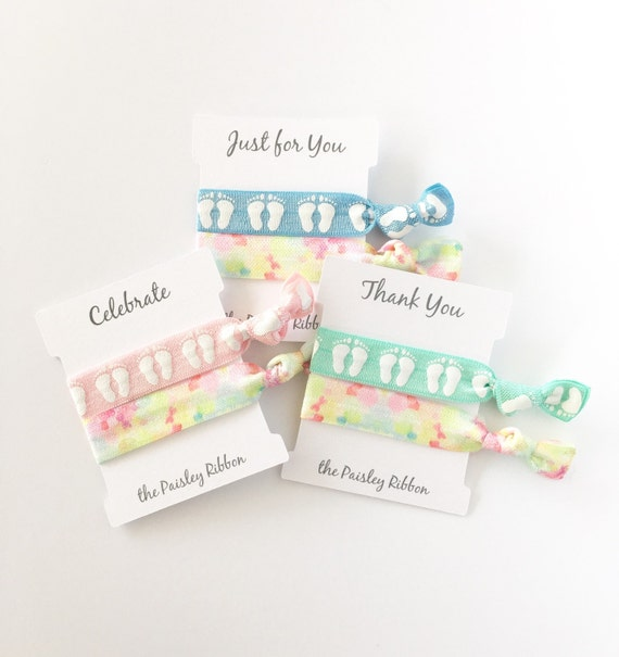Display Baby Shower: Items Similar To Baby Shower Hair Tie Favor With Display
