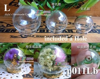 Mini Glass Snow Globe Terrarium Dome Pendant Necklace 30 x 30mm (Twenty Pieces)