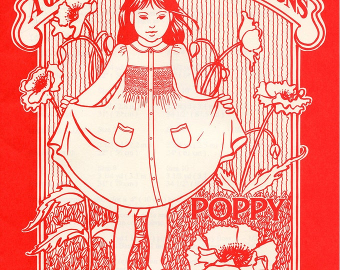 Smocked Dress Pattern /Coatdress Pattern / Peter Pan Collar / Front Button / Long & short Sleeves / Vintage /A Garden of Smocking  Designs
