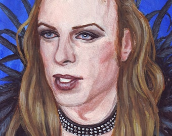 Brian Eno print of original painting 5x7