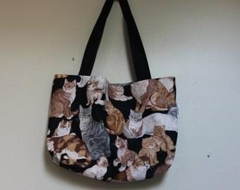 Cat on the bag, Shoulder Bag, Medium Bag, Shopping Bag,