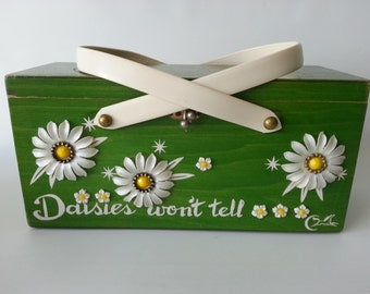 SALE!!!  Enid Collins 'Daisies Won't Tell' Box Bag