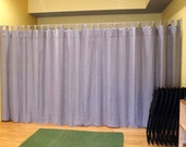 Linen Tab Top Curtains,Ecru Linen Curtains,Unlined Curtains,Burlap Curtains,Non transparent Curtains,Made to measure Curtains