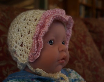 DOWNLOAD TODAY Ruffles & Shells Round Baby Bonnet for 3-6 months - Easy Pattern