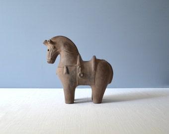Vintage Bitossi Style Horse Sculpture
