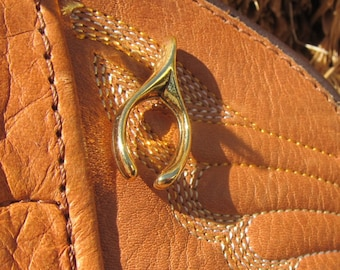 Gold Wishbone Lapel Pin- Lucky, Luck, Clavicle and Wish Lapel Pins