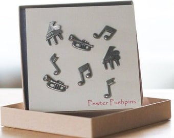 Music Pushpins- Music Teacher Gifts- Musical Instruments, Arts, Band
