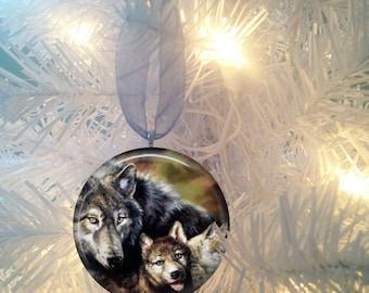 Wolf #2 Christmas Tree Ornament