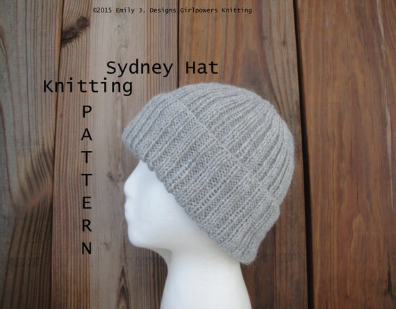 Easy Knitting Pattern For Toque : Sydney Hat Knitting Pattern Easy Knit Watch Cap Beanie Toque