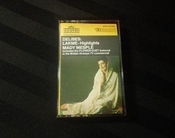 Delibes: Lakmé (Highlights) ~ Mady Mesplé, Soyer, Lombard/Orch. of the Paris Opéra-Comique - 4XG 60386 - audio cassette (Seraphim,1984)