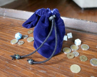 Adventurers Dice Bag - Mage - Quality drawstring reversible pouch with belt loop