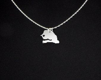 Senegal Necklace - Senegal Gift - Senegal Jewelry