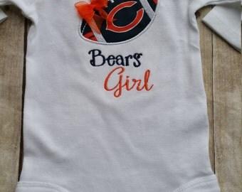 Chicago Bears Girl Baby Shirt | bodysuit