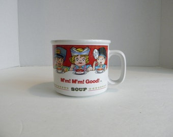 1993 Campbell Soup Co Ceramic Chowder Soup Bowl w Handles by Westwood