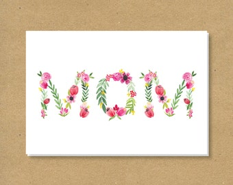 FLORAL MOM Mother's Day Card