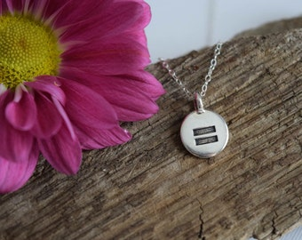 Equality Necklace, Equal Rights Jewelry, Gay Rights, LGBTQIA+, Gay Marriage, Feminist Activist, pride necklace, gift for her, gift under 25