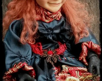 "Christmas Elf Art Doll - ""Gillian"""