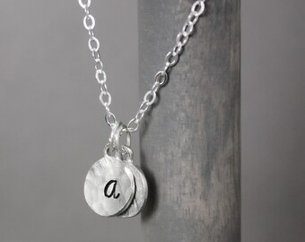 Bridesmaid Necklace, Initial Necklace, Bridesmaid Gifts, Wedding Jewelry, Wedding Gifts, Charm Necklace, Initial Jewelry, Monogram Jewelry