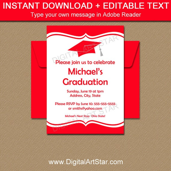 Graduation invitation instant download class reunion invitation il570xn filmwisefo