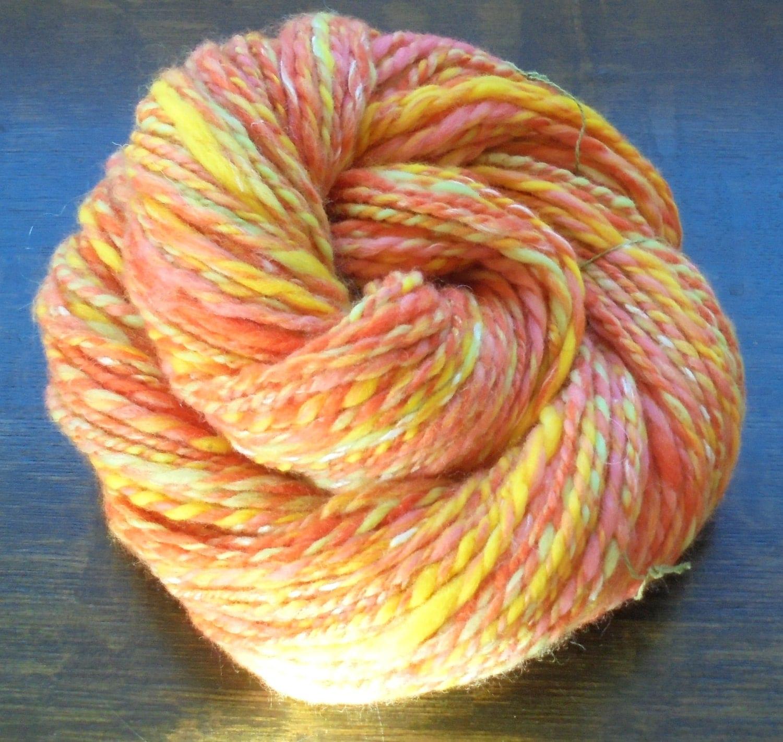 Squishy Yarn : Soft Handspun Yarn, GELATO, Thick and Thin Yarn, 2-ply Handspun Yarn, Squishy Yarn, Merino Yarn ...