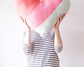 Giant Heart Pillow - Salvaged Denim