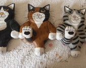 Cat Rack with four dancing cats great rack for everything... jewelry.. jackets.. clothing.. hats..