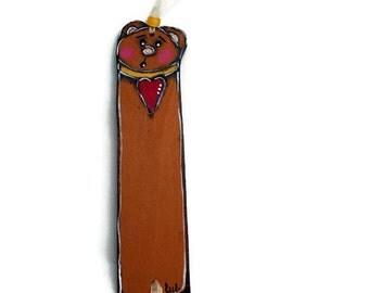 Teddy bear bookmark - Decorative bookmark - Brown bear bookmark- Pooh bookmark