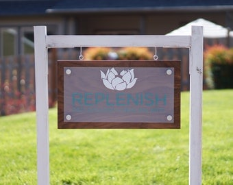 """Custom Outdoor Business Sign and Yard Post included 10"""" x 26"""""""