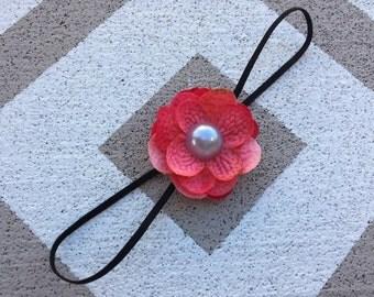 Hot pink elastic headband~Flower headband~Photo prop~Photography prop~Prop~Baby headband~Newborn headband