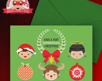 A Very Supernatural Christmas Card - Team Free Will - PRINTABLE
