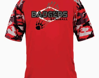 YOUTH - Badgers Baseball Camo Sport Tee - 2141