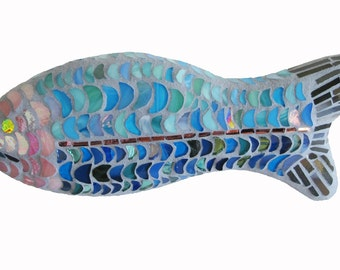 Stained Glass Mosaic Wall Art: Trout