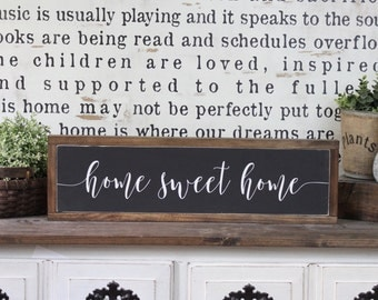 Home Sweet Home, Wood Sign, Farmhouse Sign, Over The Door Sign, Rustic Decor, Home Decor, Inspirational Sign