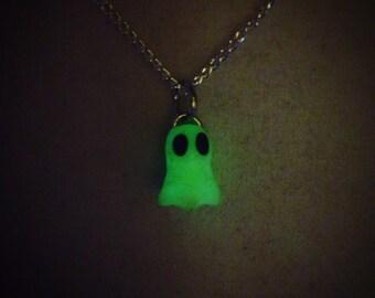 Mini Glow-in-the-Dark Ghost Necklace