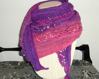 Pink and Purple Pixie Shawlette