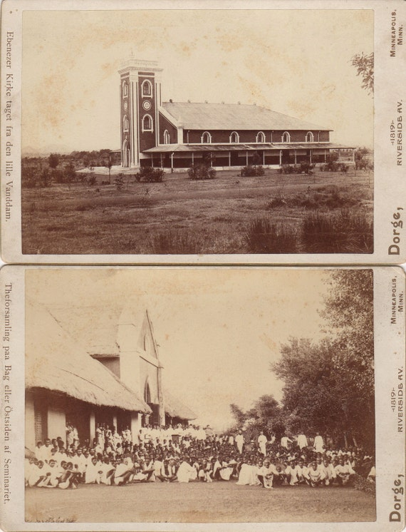 Interesting Set of Cabinet Cards ~ Church and Missionaries ~ Serampore College