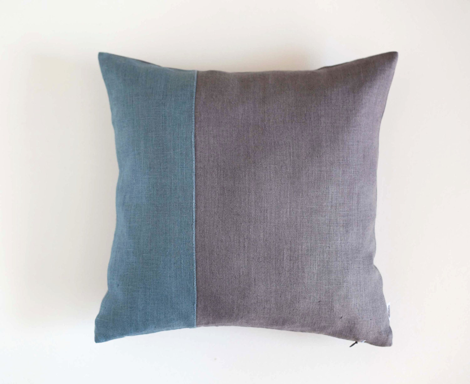 Dusty Blue Decorative Pillows : Throw pillow dusty blue with gray background decorative