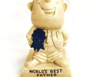 "Vintage ""World's Best FATHER"" Sillisculpt -"